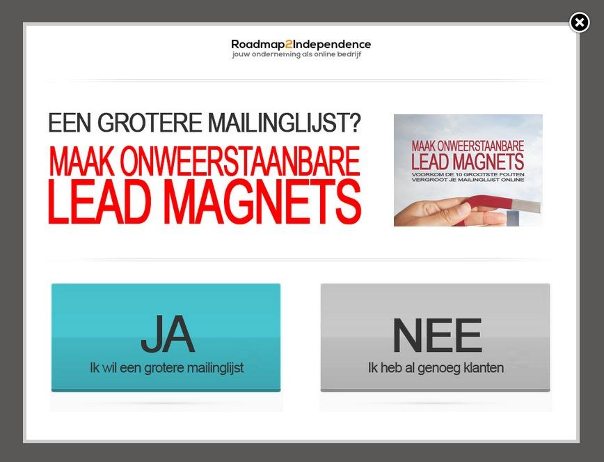 Lead Magnet voor onweerstaanbare lead magnets