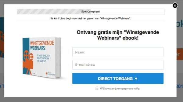 2-staps optin voor lead magnet en ebook