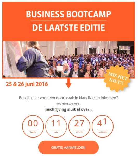 gratis live event of gratis training als klantmagneet of lead magnet