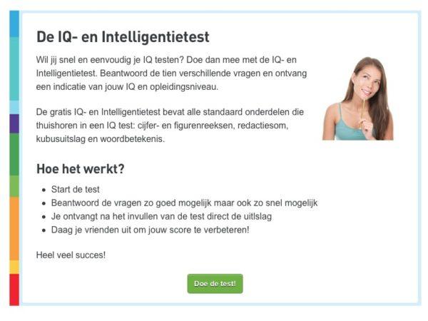 laat je bezoeker een test maken, testresultaten als klantmagneet of lead magnet