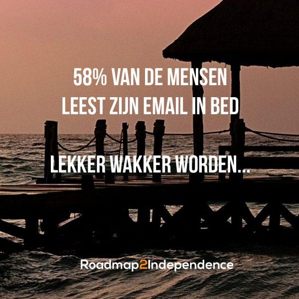 58% van de mensen leest zijn email in bed - Lekker wakker worden