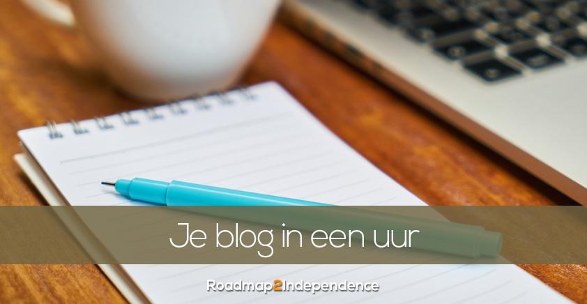 Schrijf binnen een uur een blog