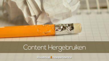 Content Hergebruiken - Content Recycling