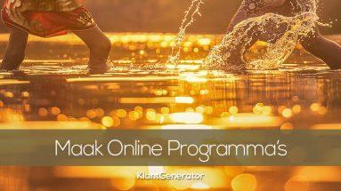 Hoe maak je een online programma, e-course, online lesomgeving