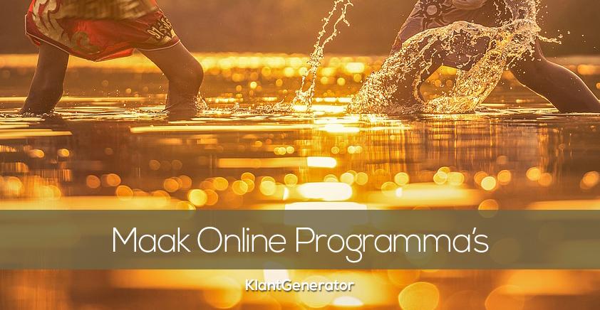 Hoe maak je een online programma?