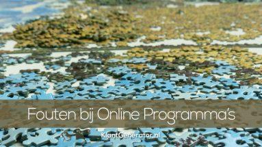 Fouten bij het maken van online programma's weggevers
