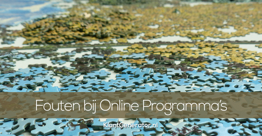 Fouten bij het maken van online programma's, ebooks, weggevers