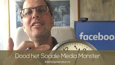 Dood het tijdvretende monster sociale media