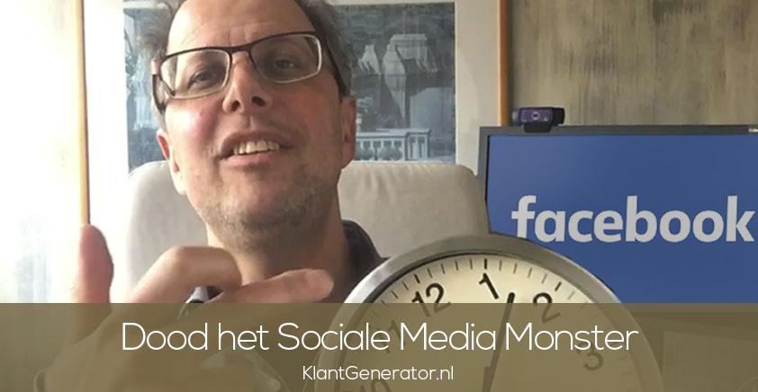 Dood het tijdvretende sociale media monster