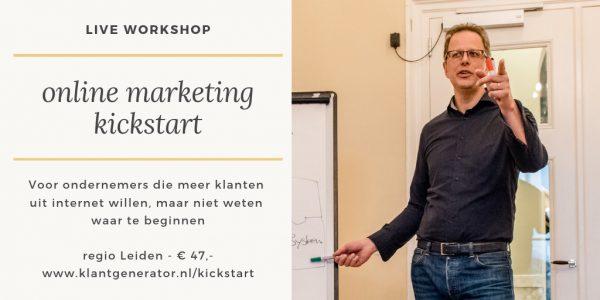 online marketing kickstart post
