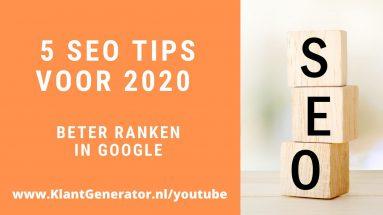 5 SEO tips voor 2020